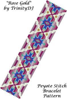 Rose Gold Bracelet Pattern by Lorraine Hickton Coetzee aka TrinityDJ! | Bead-Patterns.com