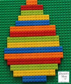 Easter Crafts for Kids- Great way to exploring patterning with LEGO.