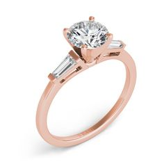 Rose Gold Semi Mounting style number EN1509-4.5MRG.