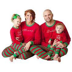 eb06453512 Hzjundasi Famiglia Matching Pigiama Abbigliamento - Autunno Inverno Natale  Lettere Stampato Capi di Abbigliamento Famiglia Pigiama Completo da Uomo ...