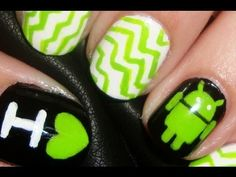 how to create android fingernails Creative Nail Designs, Cute Nail Designs, Creative Nails, Great Nails, Love Nails, Fun Nails, Amazing Nails, Nails Now, Crazy Nails