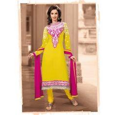 Aesthetic Yellow #Salwar #Kameez. #Buyonline via below link:- http://sarijewels.com/new-arrivals/aesthetic-yellow-salwar-kameez-997691791.html