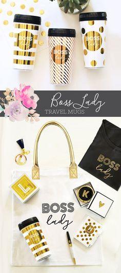 Boss Lady Tumbler Boss Boss Lady Mug Boss Gift Bossy Gift Ideas for Boss's Day ModParty on Etsy