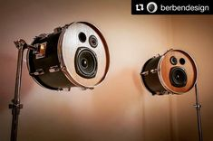 ・・・ Throwback to almost 2 years ago, when we made these really cool speakers out of two toms. In the end we decided not to sell the set and keep it ourselves, cause they really sound freakin' good! Home Music Rooms, Home Studio Music, Music Furniture, Cool Furniture, Drum Lessons For Kids, Drum Craft, Drum Room, Drums Art, Music Decor