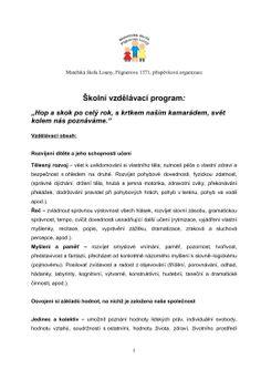 Školní vzdělávací program: