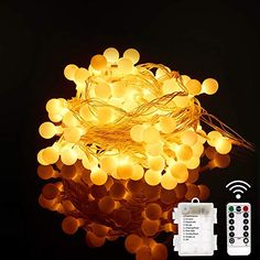 Coton 3 intensit/és Chargeur double USB 2A inclus Guirlande lumineuse boules coton LED USB 32 boules