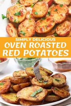 Potato Sides, Potato Side Dishes, Side Dishes Easy, Tasty Dishes, Food Dishes, Oven Roasted Red Potatoes, Potatoes In Oven, Mini Potatoes, Bean Recipes
