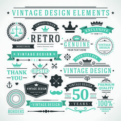 I like the Top one where it says vintage design elements