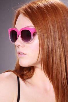 Fuchsia Gradient Tint Plastic Frames Sunglasses Sunglass Frames, Cat Eye Sunglasses, Motorcycles, Fine Jewelry, Plastic, Cars, Fashion, Moda, Autos