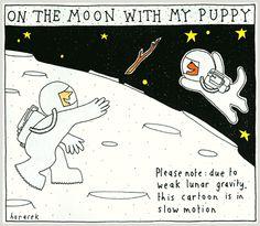 Moon cartoon.