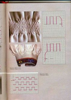 Embroidery Stitches, Embroidery Patterns, Fabric Manipulation Techniques, Smocking Tutorial, Canadian Smocking, Lace Knitting Patterns, Needlework, Diy And Crafts, Cross Stitch