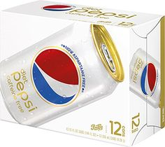 Pepsi Diet Caffeine Free Soda, 12 oz Cans): Same great Diet Pepsi taste, without the calories and caffeine Diet Pepsi, Amazon Buy, Caffeine, Soda, Cool Things To Buy, Lose Weight, Label, Keto, Canning