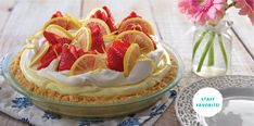 No-Bake Lemon Pie with a Cookie Crust