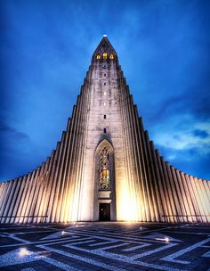 HallgrÃmskirkja, a church in downtown Reykjavik, Iceland  WAS THERE 2011