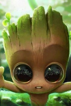 Give a new touch to your home and office with the Baby Groot Planter. Cute Pokemon Wallpaper, Cartoon Wallpaper Iphone, Disney Phone Wallpaper, Cute Cartoon Wallpapers, Cute Disney Drawings, Cute Drawings, Baby Groot Drawing, Baby Animals Super Cute, Avengers Wallpaper