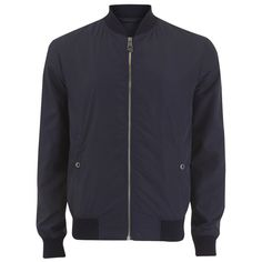 Versace Collection Men's Zipped Jacket (3.495 DKK) ❤ liked on Polyvore featuring men's fashion, men's clothing, men's outerwear, men's jackets, men, men wear, navy, mens bomber jacket, mens jackets and mens navy bomber jacket