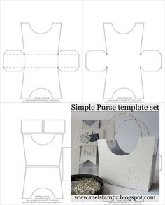 Simple purse templates--This site is loaded with templates for all sorts of cool projects