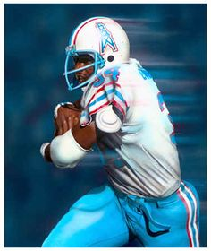 HOUSTON OILERS | Houston Oilers Earl Campbell NFL Football Art Print Poster