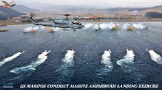 US Marines Conduct Massive Amphibious Landing in Pacific