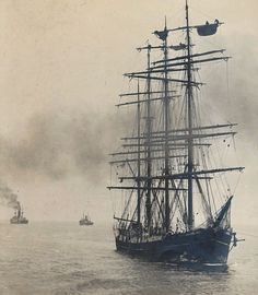 whitedreamer:  Old Tall Ship by Gerda Suzanna Vegt on Flickr.   Near the end of the Age of Sail