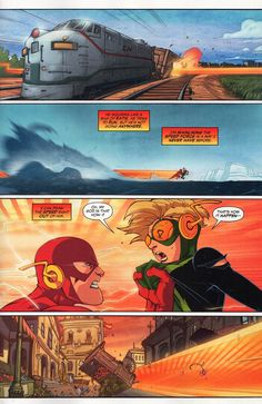 That time the Flash was so powerful he turned someone into a statue. - Imgur