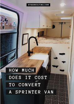 How much does the conversion of a Sprinter van cost? A breakdown of how much it cost us to rebuild our van. Breakdown of construction costs for Sprinter delivery vans. Van Conversion Campervan, Sprinter Van Conversion, Camper Life, Diy Camper, Bus Life, Van Kitchen, Diy Van Conversions, Van Conversion How To, Van Conversion Interior