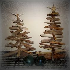 Beachy Christmas - diy driftwood tree ornament