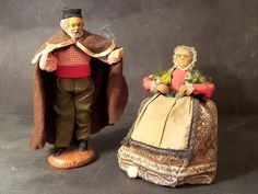 Vintage French Figurine .Santons .French by CabArtVintage on Etsy