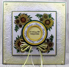 John Next Door: Yellow Daisies. Sue Wilson, Yellow Daisies, Next Door, I Card, Daisy, Paper Crafts, Frame, Ranger, Creative