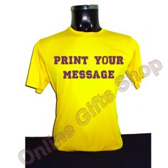 your-message-t-shirts-yellow - roundneck