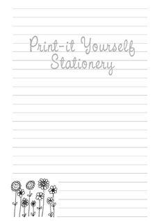 Free printable notepaper