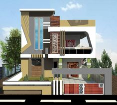 House Balcony Design, House Outer Design, Two Story House Design, Modern Small House Design, 2 Storey House Design, House Outside Design, Modern Exterior House Designs, Village House Design, Bungalow House Design