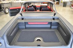 Gil Losi's 61 Impala matte black  red interior grey door panels custom