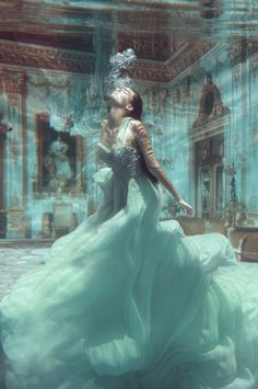 ♂ Fashion photography feminine beauty lady in blue underwater photography by Jvdas Berra
