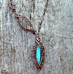 Labradorite Woven Copper Necklace by MandatoJewelryDesign on Etsy, $60.00