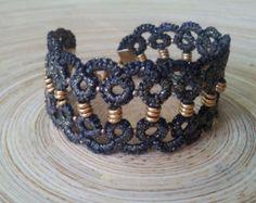 tatting lace bracelet by freevolity on Etsy