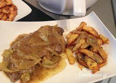 Σαγανάκι+συκώτι+με+τηγανιτές+πατάτες