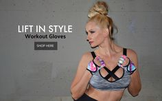 Stylish Fitness Gloves for weighlifting, CrossFit, cycling and more.