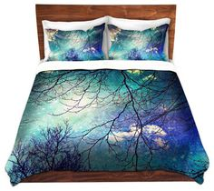 Duvet Cover Twill - Night Sky - contemporary - Duvet Covers And Duvet Sets - DiaNoche Designs