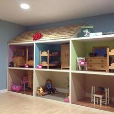 Homemade American Girl Doll House we built!