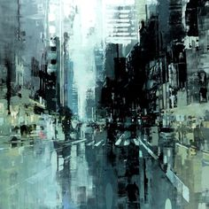 NYC #21 - 48 x 48 inches - Oil on Panel - 1/2016