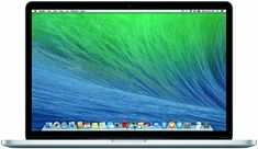 Apple MacBook Pro ME293LL/A 15.4-Inch Laptop with Retina Display (OLD VERSION). 2.0GHz quad-core Intel Core i7 processor (Turbo Boost up to 3.2GHz) with 6MB shared L3 cache. 256GB PCIe-based flash storage; 8GB 1600MHz DDR3L onboard memory. 15.4-inch (diagonal) Retina display, 2880x1800 pixel Resolution; LED-backlit with IPS technology. Intel Iris Pro Graphics ; 802.11ac Wi-Fi wireless networking. Mac OS X Mavericks, Up to 8 hours of battery life.