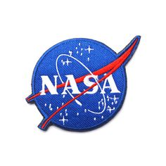 NASA logo Patch Badge Patch Iron on Patches Siza: 10.5 X 8 CM with iron on backing