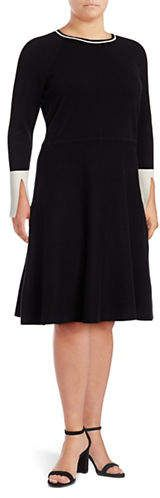 Shop for Vince Camuto Plus Split Cuff Flared Sweater Dress at ShopStyle. Now for $89.50.