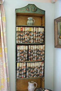 Virginia Woolf's Shakespeare volumes.  Monk's House, Sussex, England.