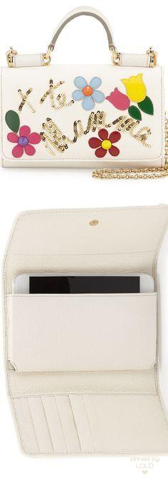 Dolce & Gabbana Flower Crossbody iPhone Wallet   LOLO❤︎