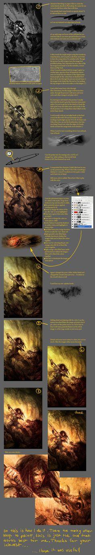 Digital Painting tutorial by perzo