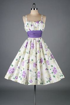 Vintage 50's Pat Premo floral cotton dress