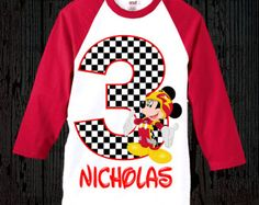 Mickey Roadster Racers Banner, Mickey Roadster Racers Birthday, Mickey and the Roadster Racers, Mickey Mouse Race Car Birthday, Cars Birthday Parties, Third Birthday, Mouse Parties, Boy Birthday, Birthday Ideas, T Shirt Mickey, Mickey Mouse Birthday Shirt, Mickey Party
