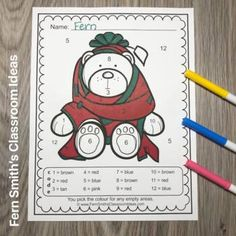 Christmas Color By Number Kindergarten Know Your Numbers   TpT Christmas Color By Number, Christmas Colors, Classroom Management Tips, Color By Numbers, Group Work, Fifth Grade, Math Resources, Small Groups, Elementary Schools